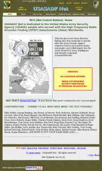 How the site home page looked 2004-2007