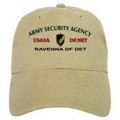 600th ASA Company Detachement A Ravenna Italy Ball Cap